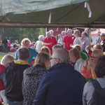 Rantakalatapahtumaan osallistui mökkiläisten lisäksi myös vieraita ystävyyskunnista.