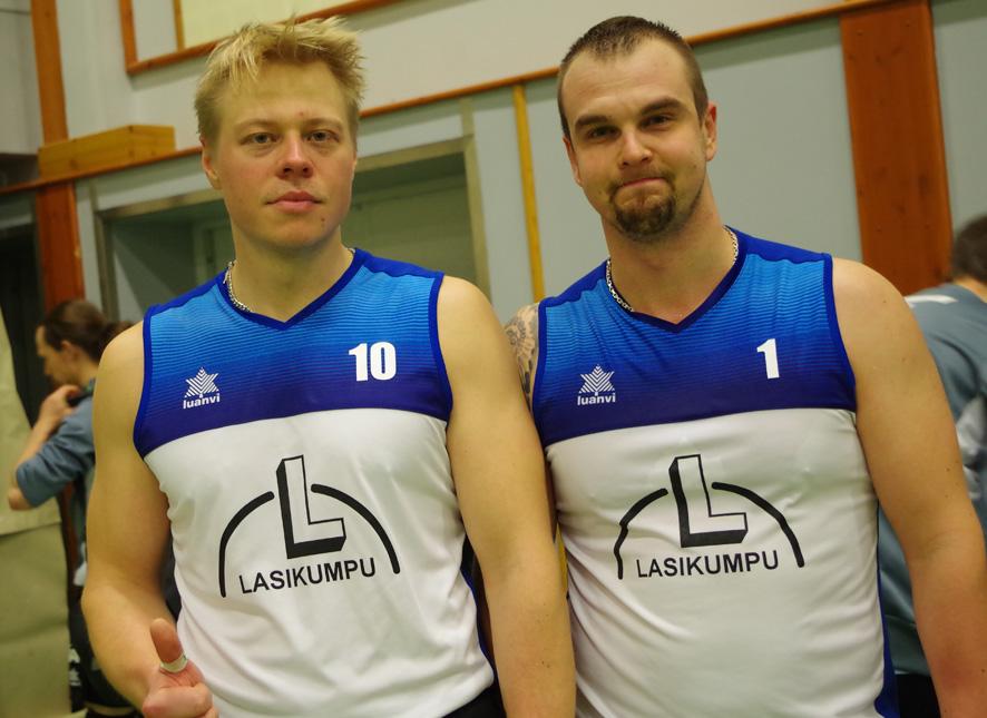 Toni Karttunen (vas.) ja Antti Kuittinen ovat Liperin Taimen kasvatteja.