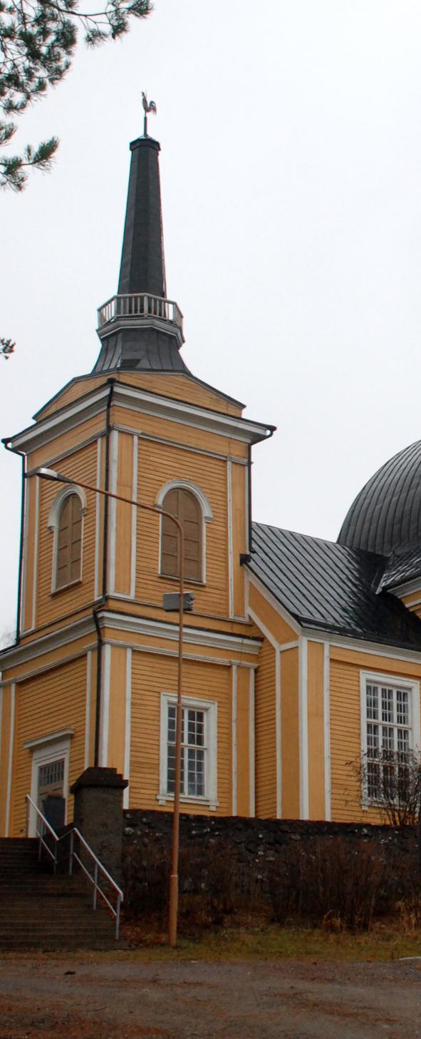 Rääkkylän puukirkko on Suomen toiseksi suurin puukirkko. Arkistokuva: Päivi Lievonen