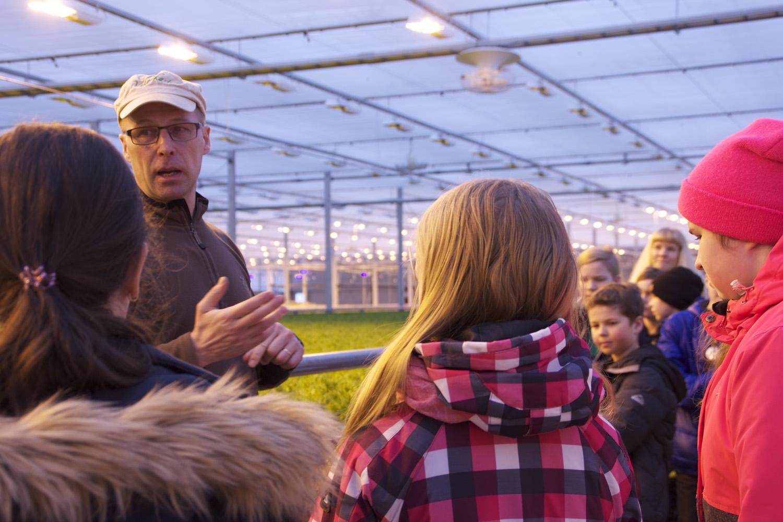 Erkki Nylund kertoo, että Viherkasteella versoo vihreää viidessä eri kasvihuoneessa. Yrityksen päätuotteet ovat jää- ja lehtisalaatti.