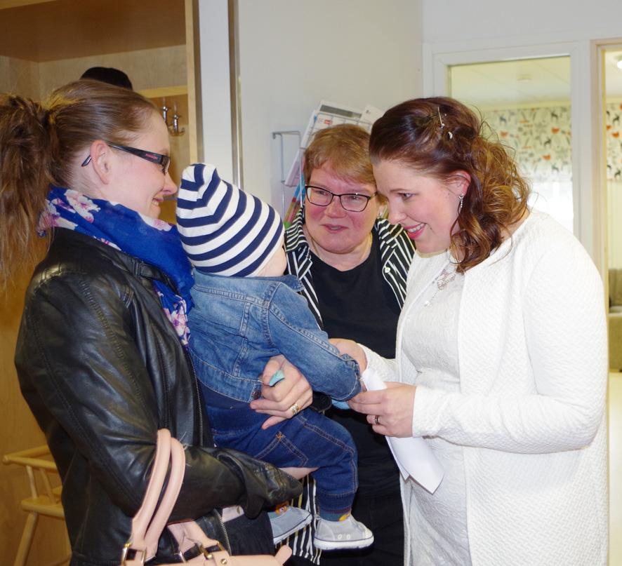 Hannele Sorvarin Luukas-poika hurmasi Talvi-Maaria Turusen konsertin jälkeen.