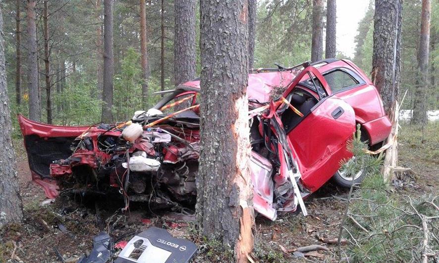 Onnettomuusauto ei ole mikään kaunis näky.