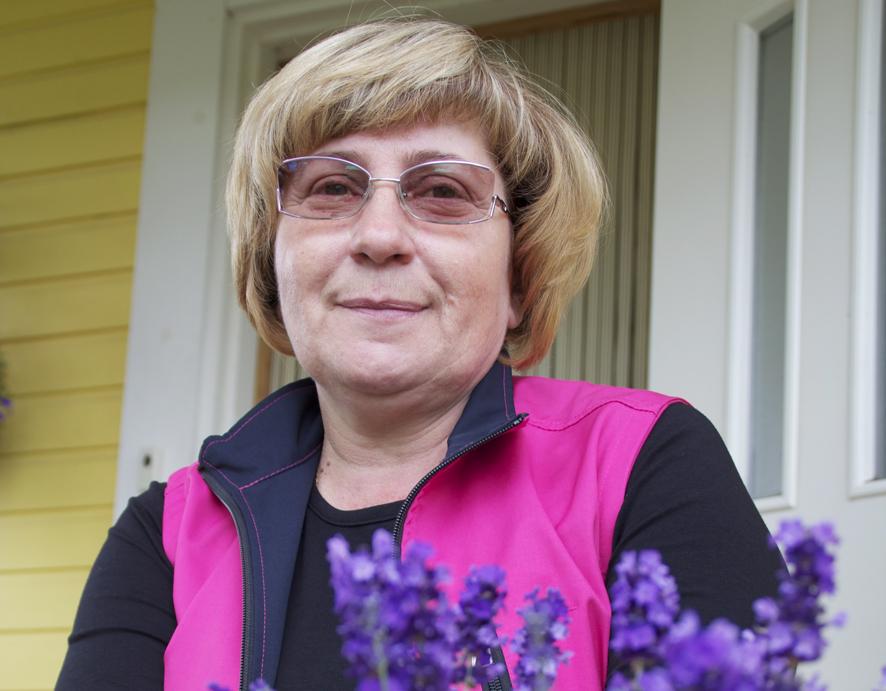 Lavandan yrittäjä Tatiana Räty on asunut Suomessa 11 vuotta.