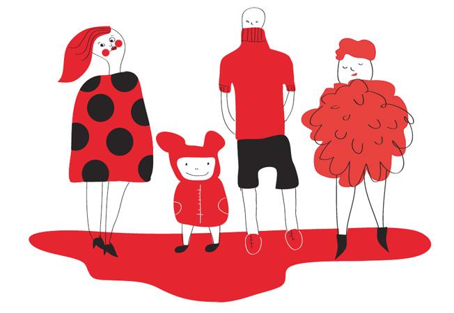 Maailman sydänpäivänä pukeudutaan punaiseen. Kuva: Niina Green