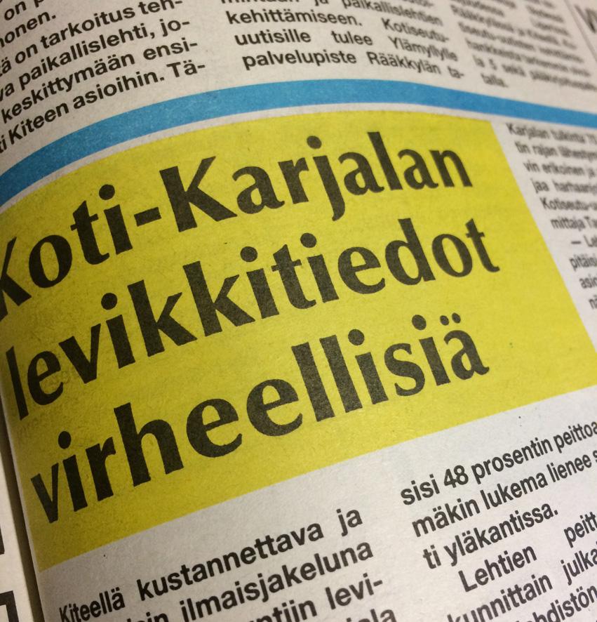 Kotiseutu-uutiset 3.11.1987