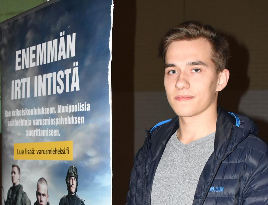 Ville Korhosen toiveena kutsunnoissa oli Onttolan rajavartiosto.