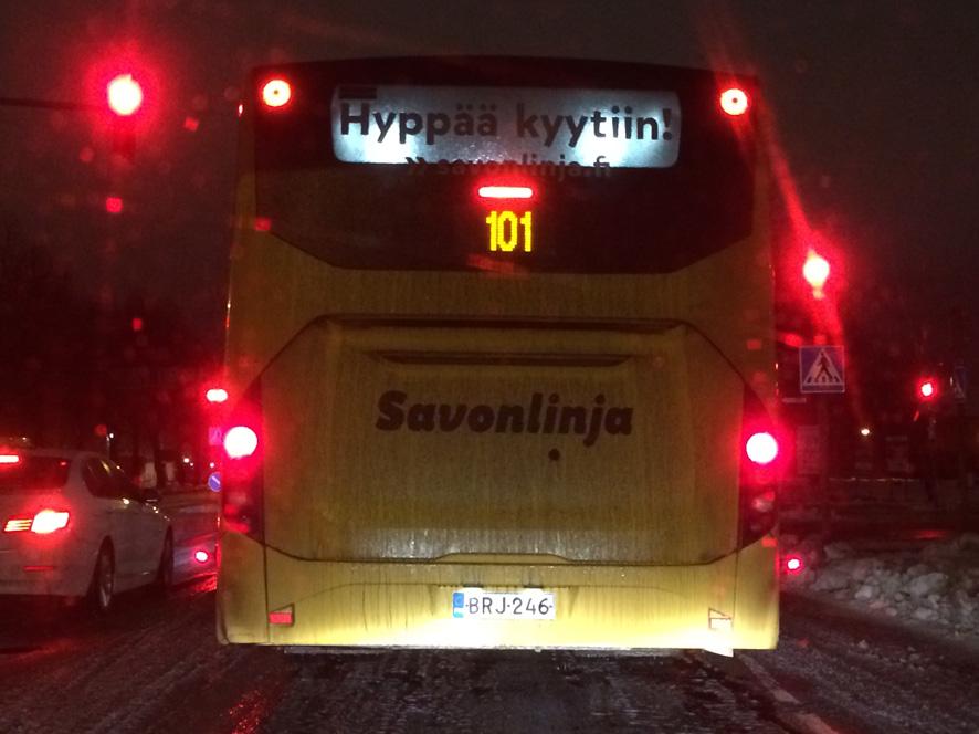 Bussilla pääsee Liperistä Joensuuhun, muun muassa.