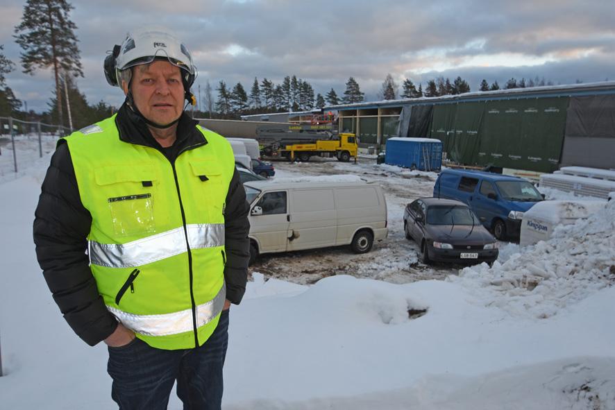 Ylämyllyn liikekeskus on yksi rakennusliike Reijosen tämän hetken työmaista, mutta ensi vuoden puolella käynnistyy todella suuri puukerrostalotyömaa Joensuussa.