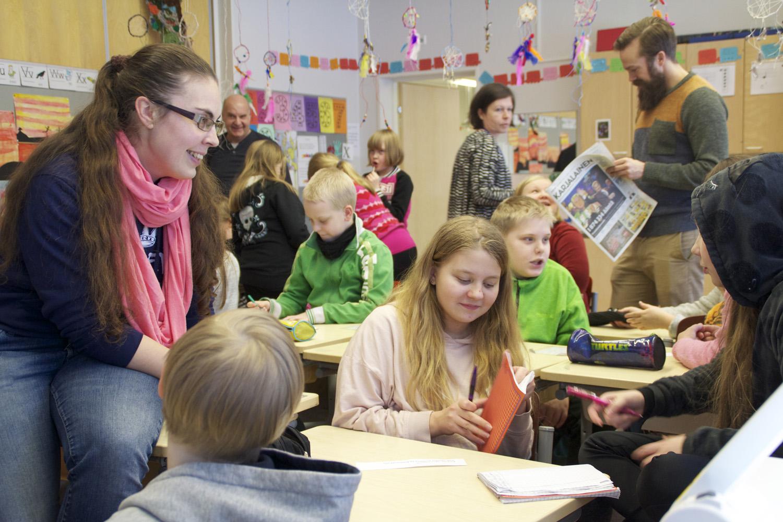Mattisenlahden koululla median maailmaan syvennyttiin maanantaina.