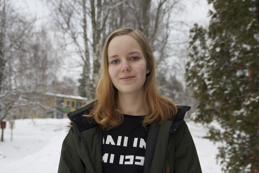 Vuonna 2002 syntynyt Heidi Karhunen aikoo hyödyntää työnhaussa kunnan tarjoamaa kesätyöseteliä.