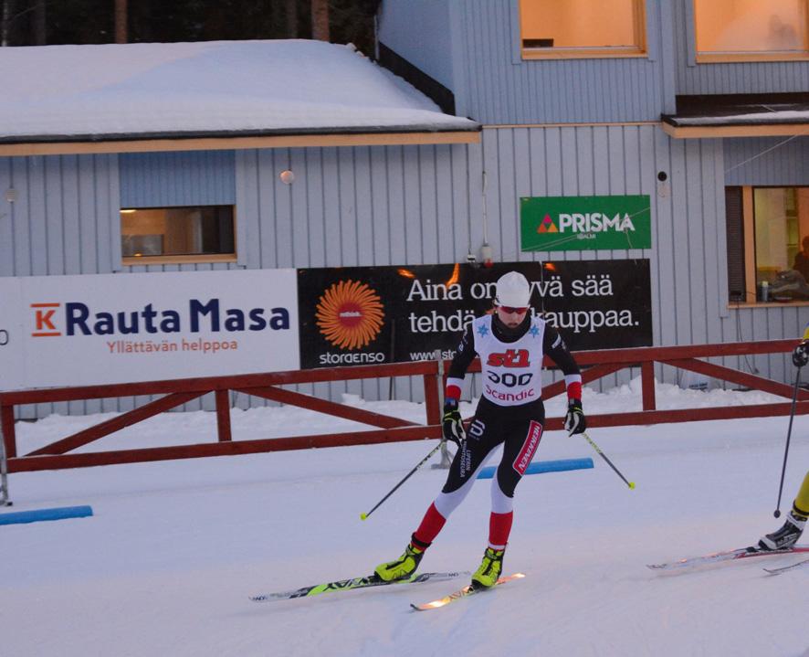 Lotta Kurttila kilpaladuilla Iisalmen SM-kilpailuissa. Kuva: Jussi Simula