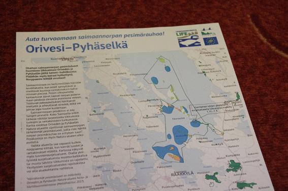 Metsähallituksen julkaisemien karttojen avulla voi vältellä saimaannorpan pesimäalueita.