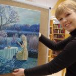 Helmi Ylisirniön maalauksia on Liperin kirjastossa esillä maaliskuun alkupuolelle asti.